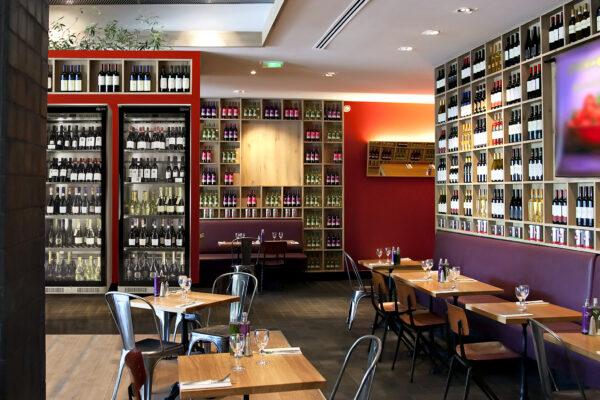 detail of interior in wine restaurant
